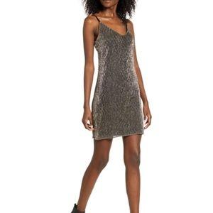 Lira Clothing Mini Night-Out Metallic Dress